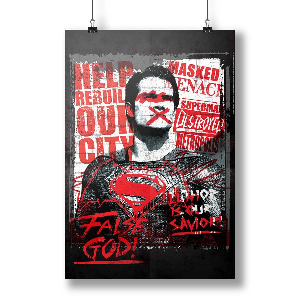 Pôster Batman VS Superman False God