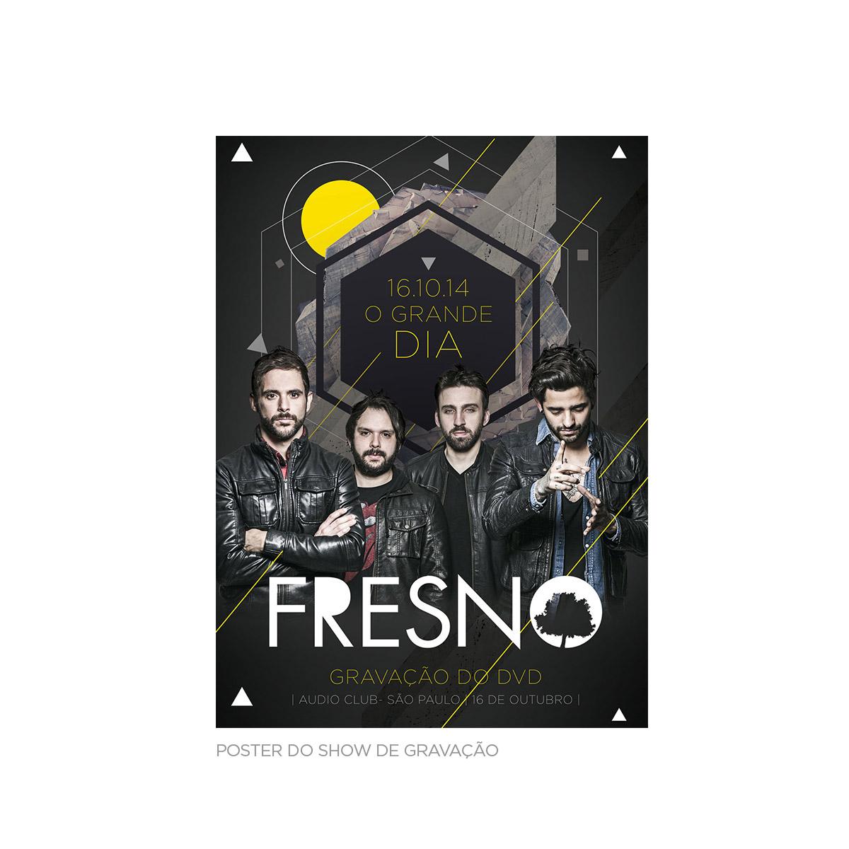 CD Duplo Deluxe Fresno 15 Anos ao Vivo AUTOGRAFADO + Pôster GRÁTIS
