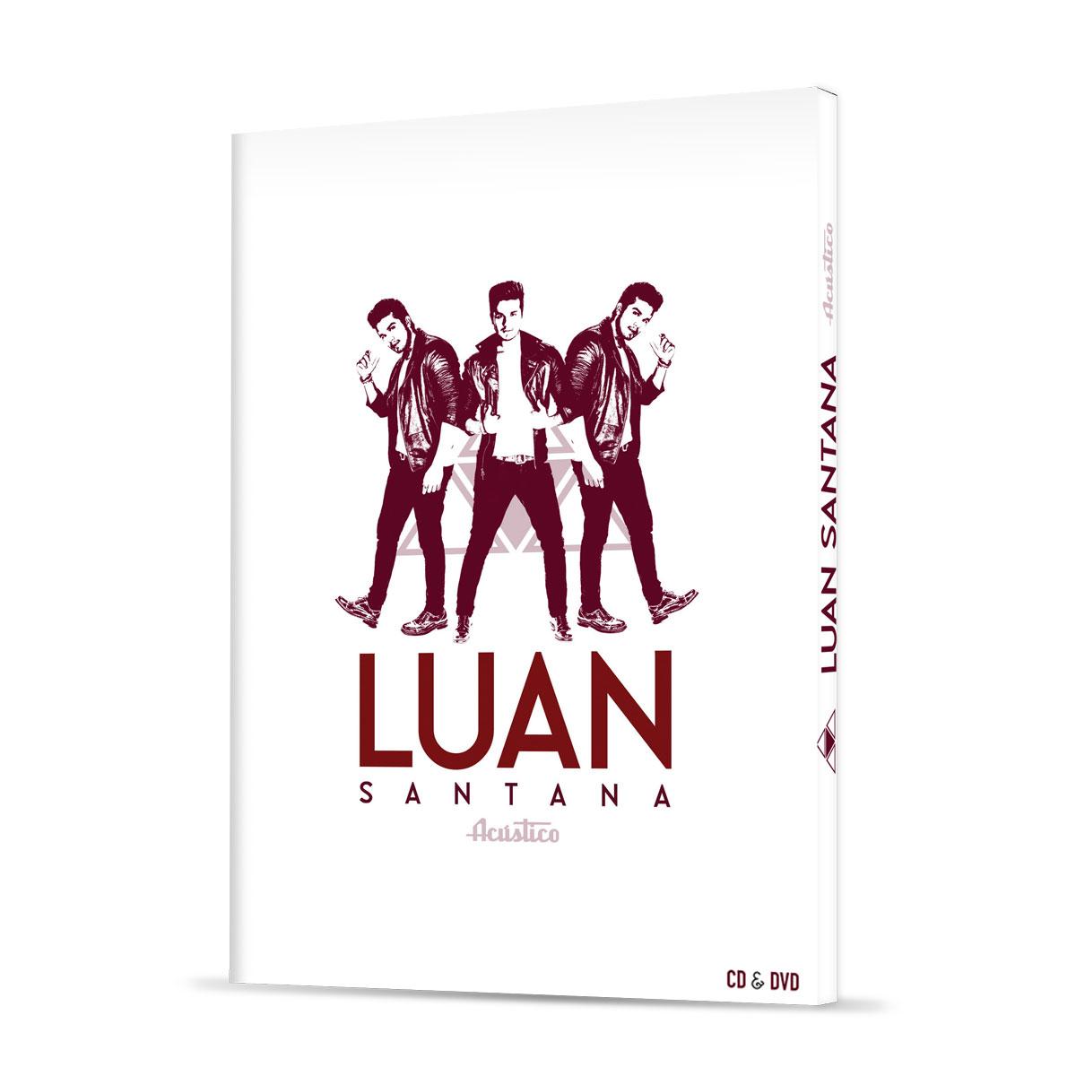 CD+DVD Luan Santana Acústico + Pôsteres GRÁTIS