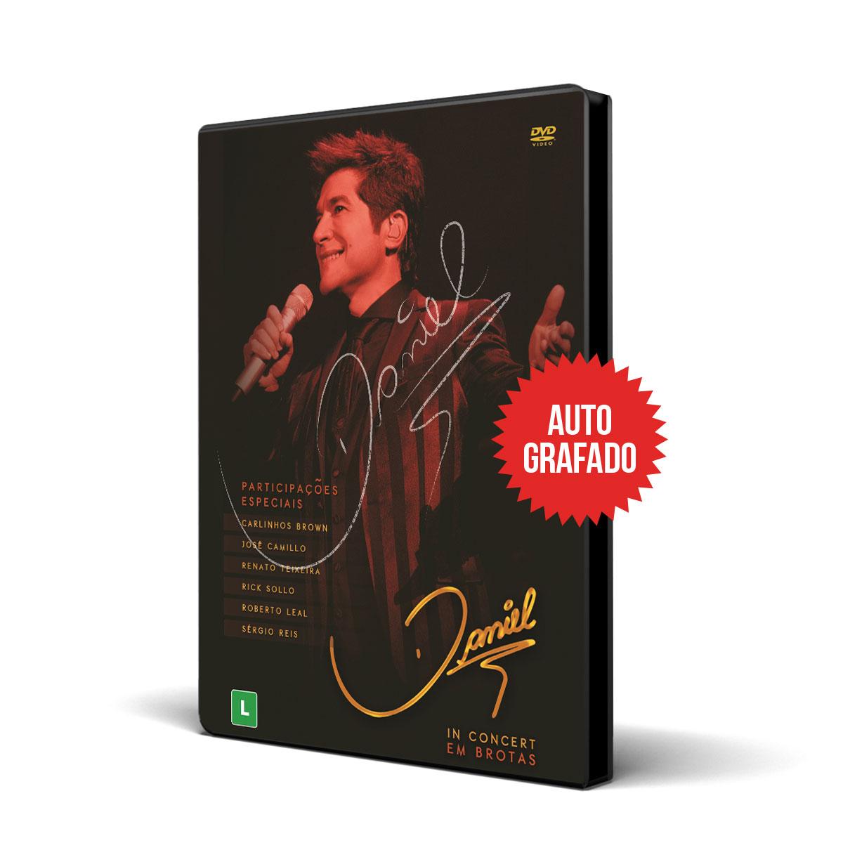 2º Lote Combo DVD Autografado Daniel In Concert em Brotas + Camiseta Feminina