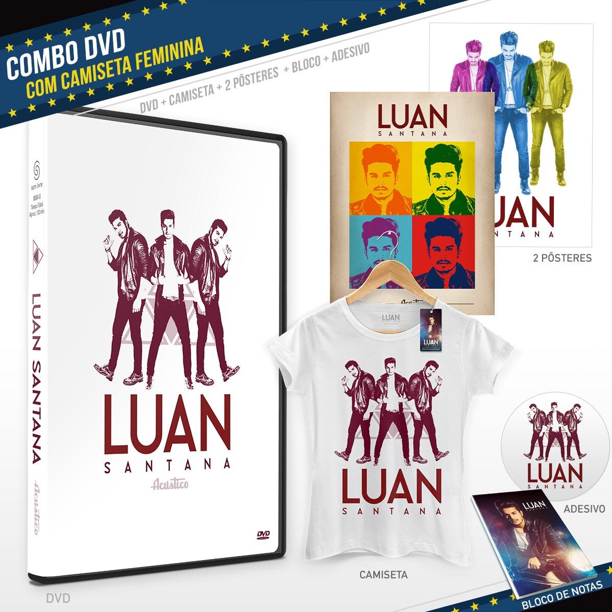 Combo DVD Luan Santana Acústico + Camiseta