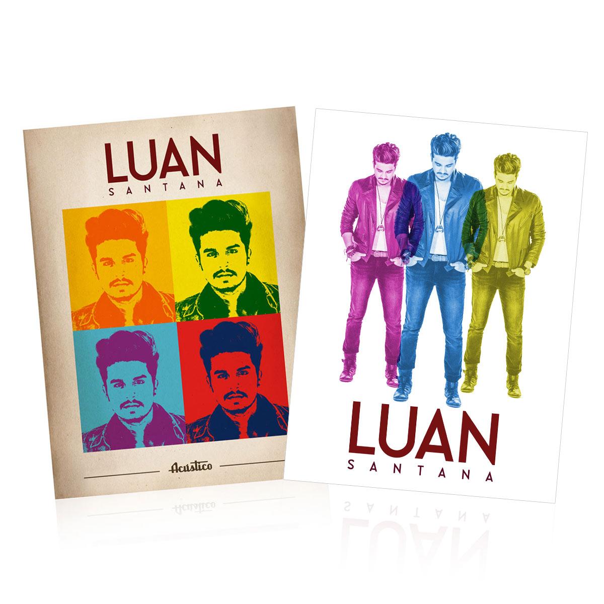 Combo PREMIUM Kit CD & DVD Luan Santana Ac�stico + Raglan Masculina