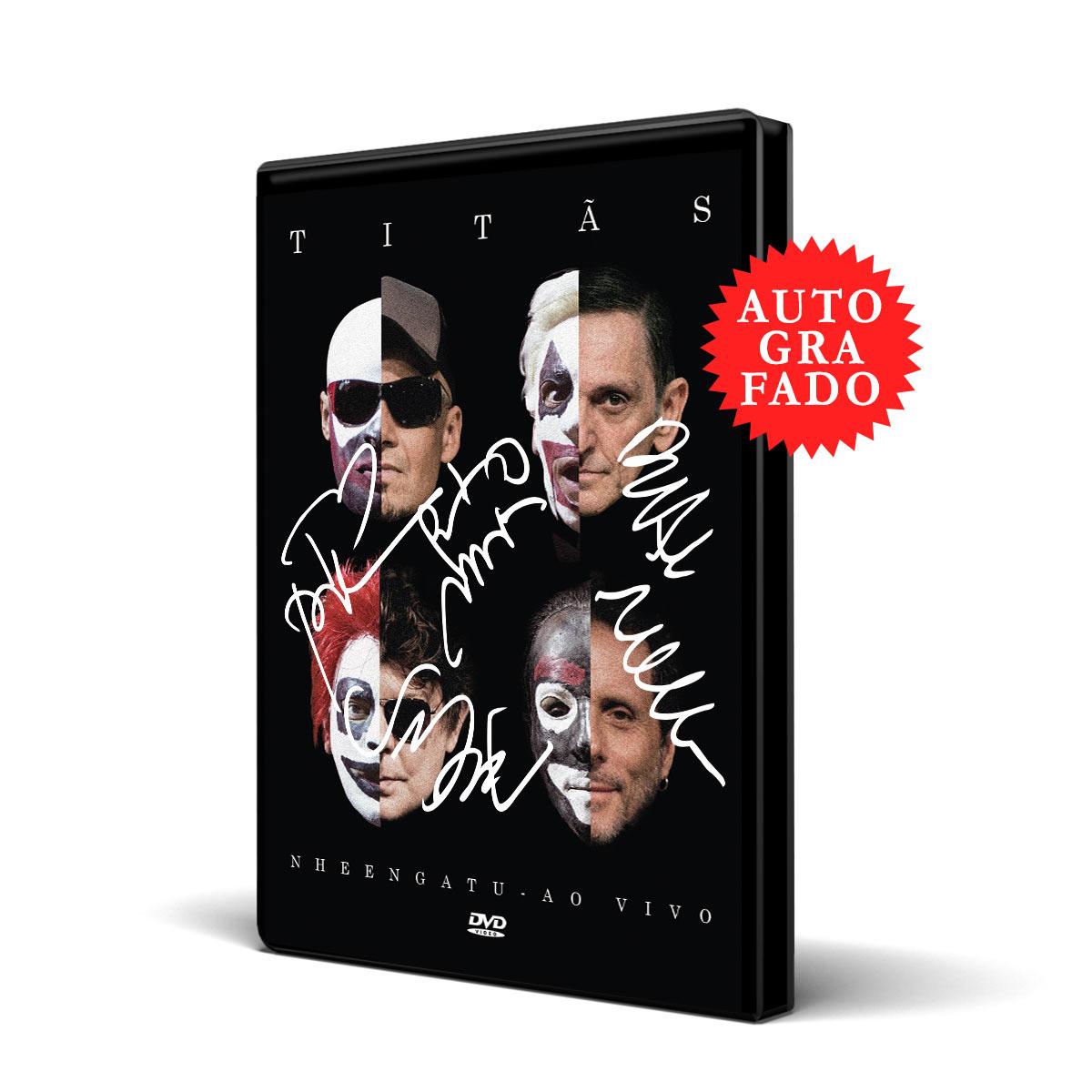 Pré-venda Combo Titãs DVD Nheengatu Ao Vivo AUTOGRAFADO + Camiseta Feminina