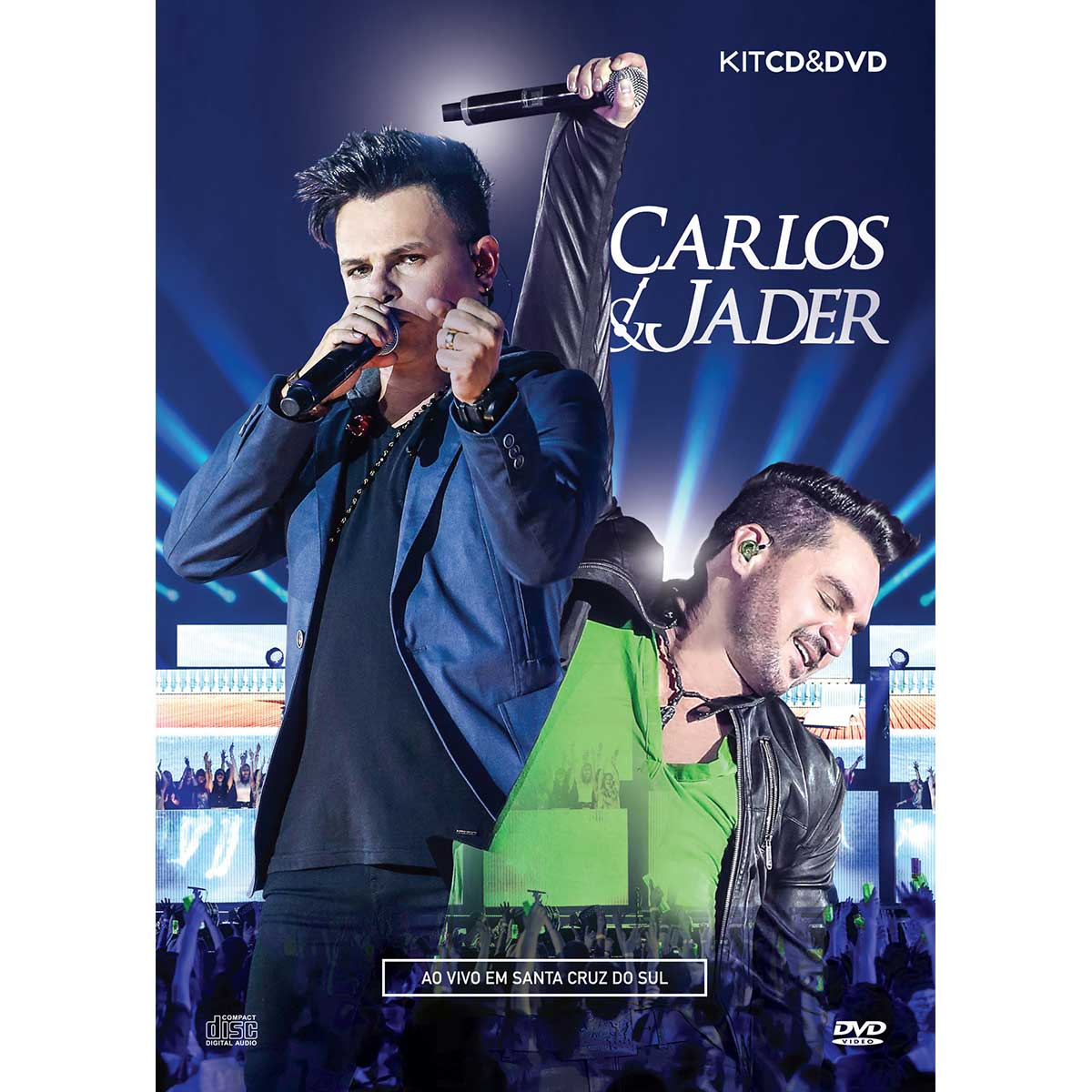 Kit CD+ DVD Carlos & Jader Ao Vivo Em Santa Cruz do Sul