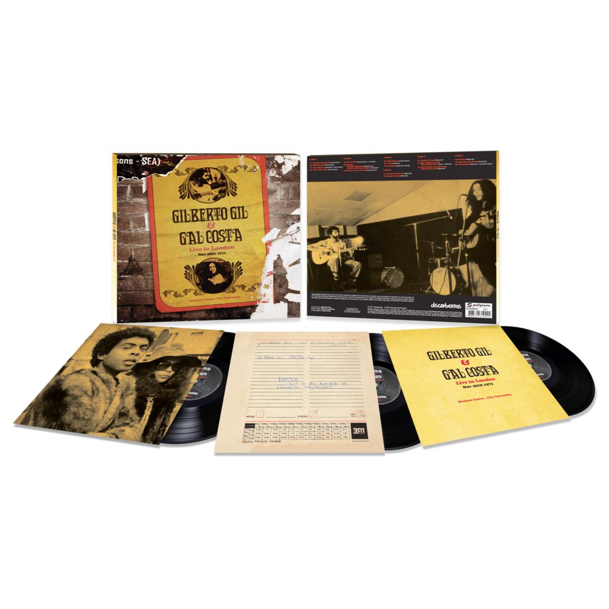 LP Triplo Gilberto Gil & Gal Costa Live In London'71