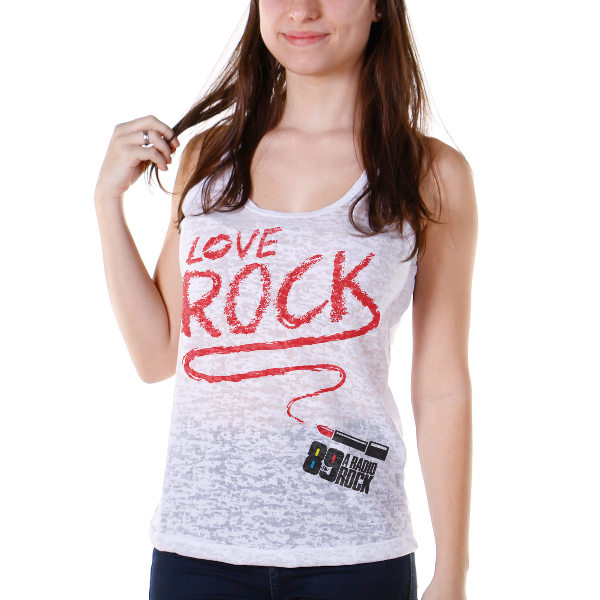 Regata Nadador Feminina 89FM Love Rock