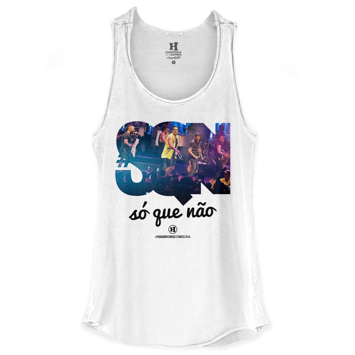 Regata Premium Feminina Harmonia do Samba Só que Não