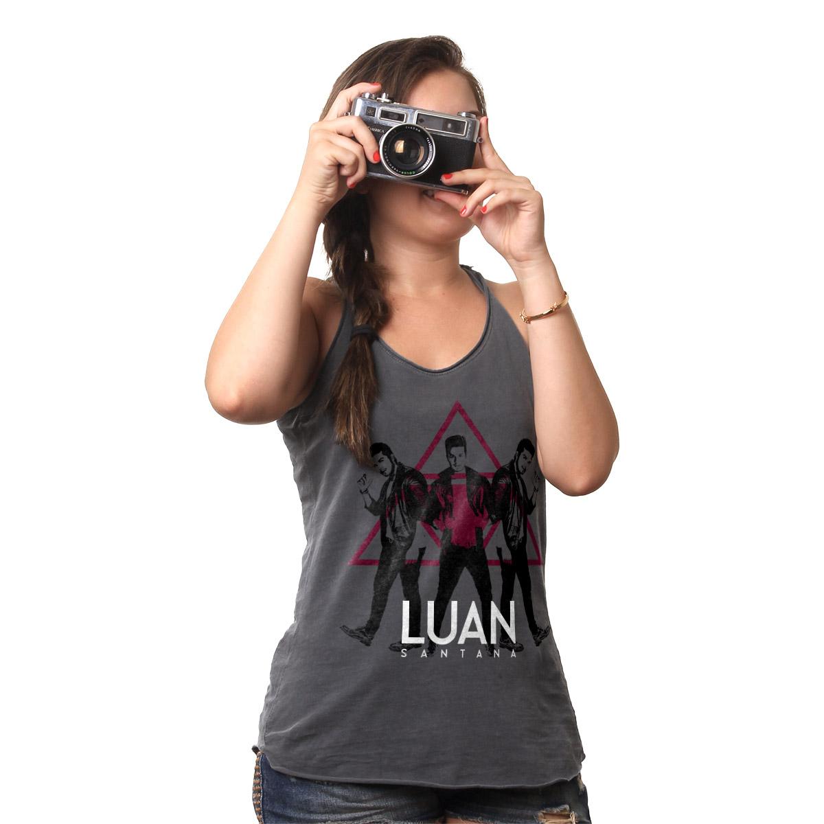 Regata Premium Feminina Luan Santana Ac�stico Black