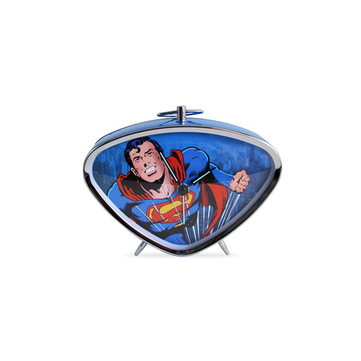 Rel�gio Despertador Superman Flying