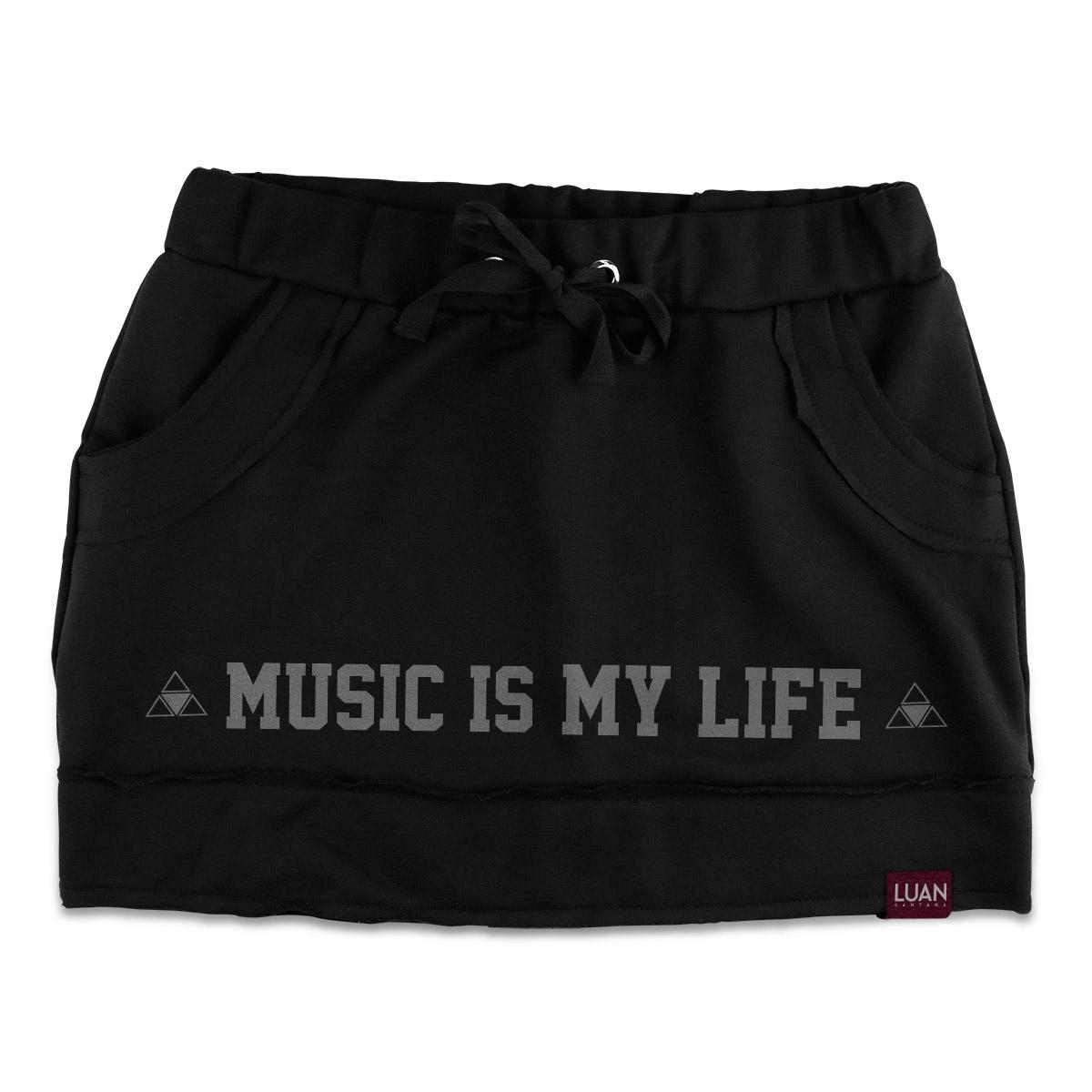 Saia de Moletom Luan Santana Music Is My Life