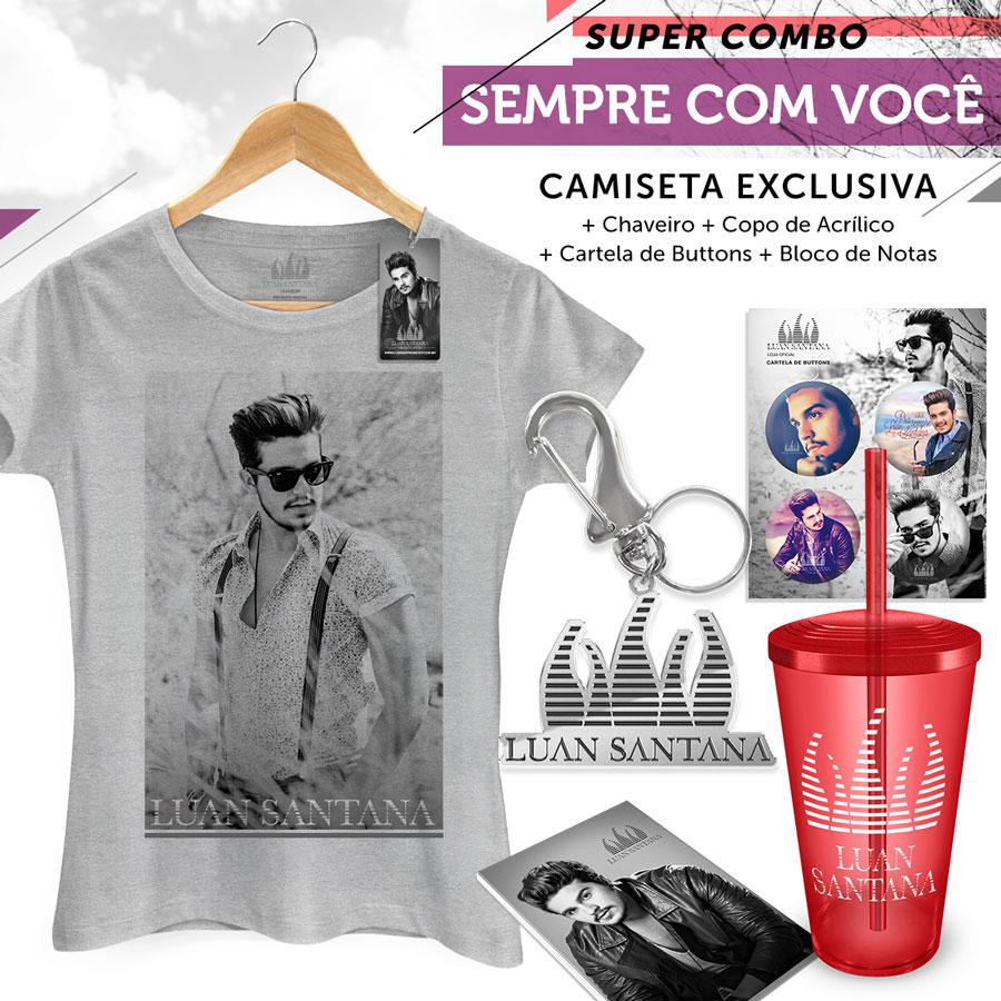 Super Combo Feminino Luan Santana Sempre Com Você