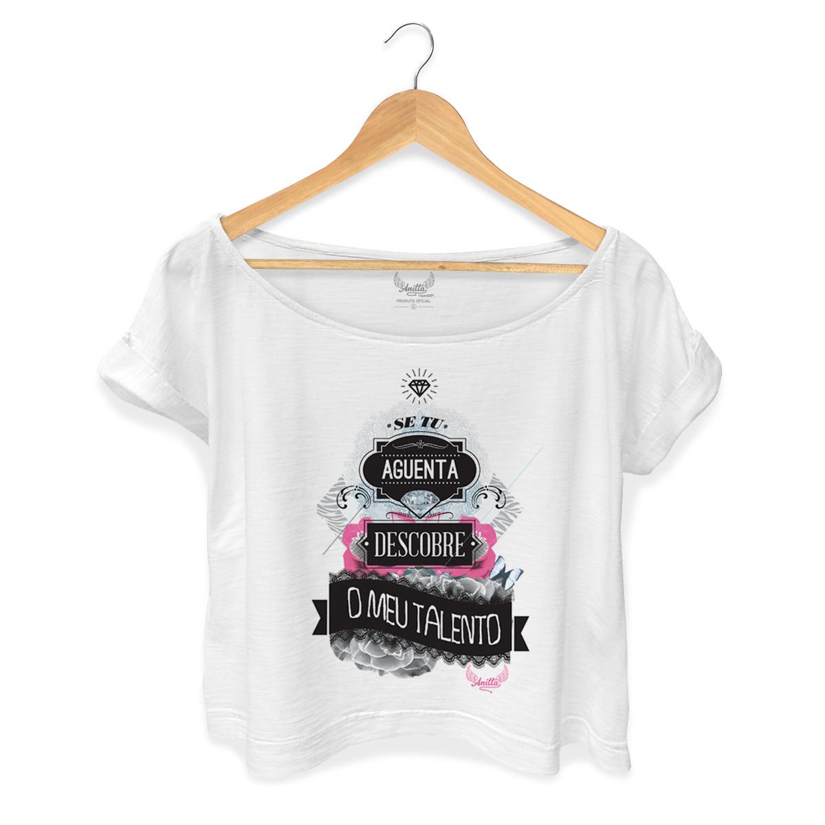 T-shirt Premium Feminina Anitta Se Tu Aguenta Descobre o Meu Talento