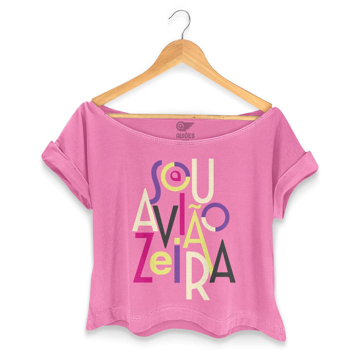 T-shirt Premium Feminina Aviões do Forró Sou Aviãozeira