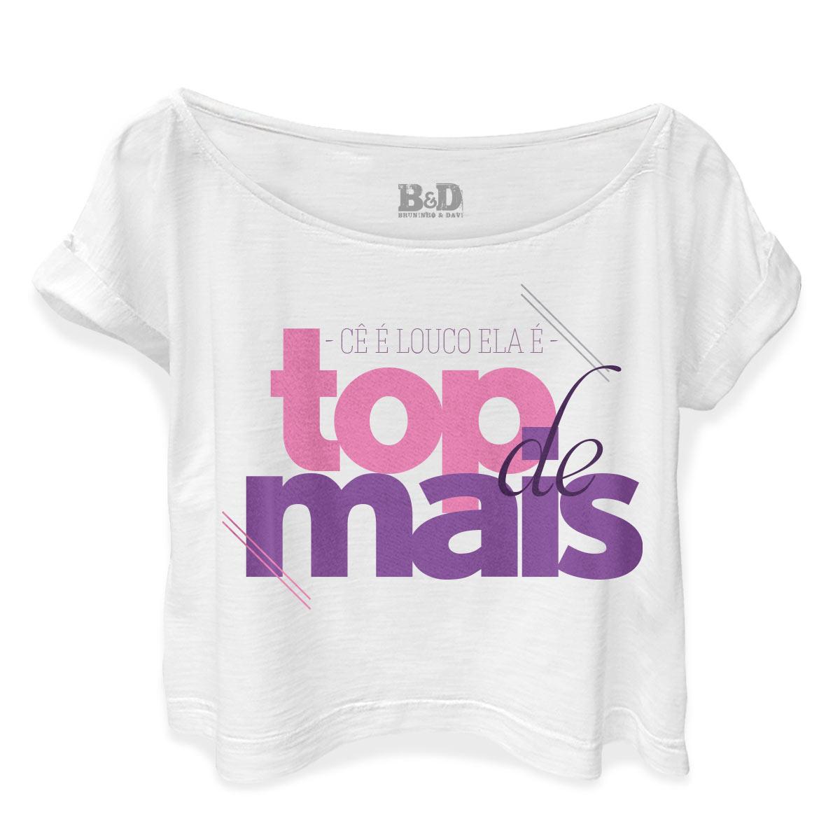 T-shirt Premium Feminina Bruninho & Davi Cê é Louco