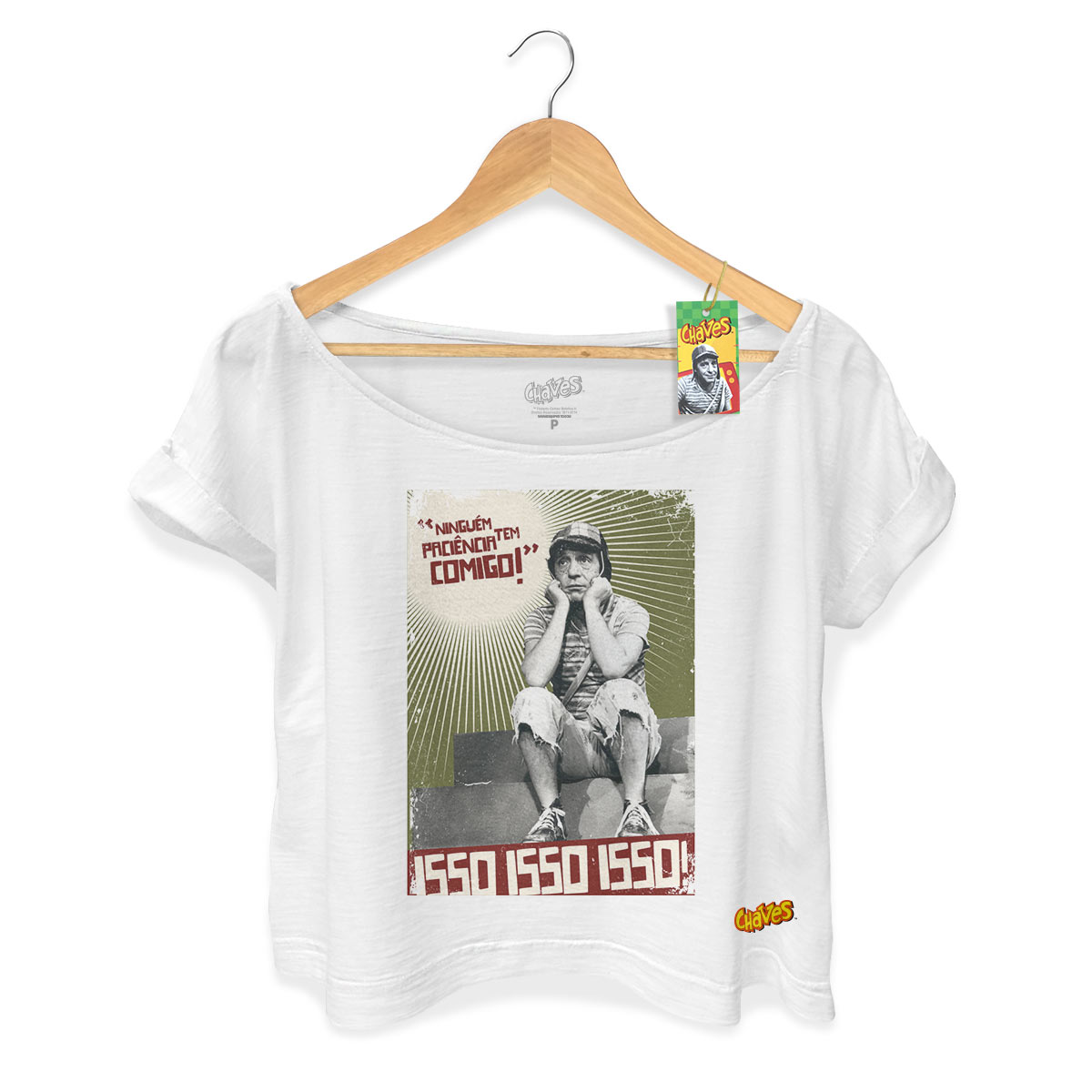 T-shirt Premium Feminina Chaves Ninguém Tem Paciência Comigo! 2