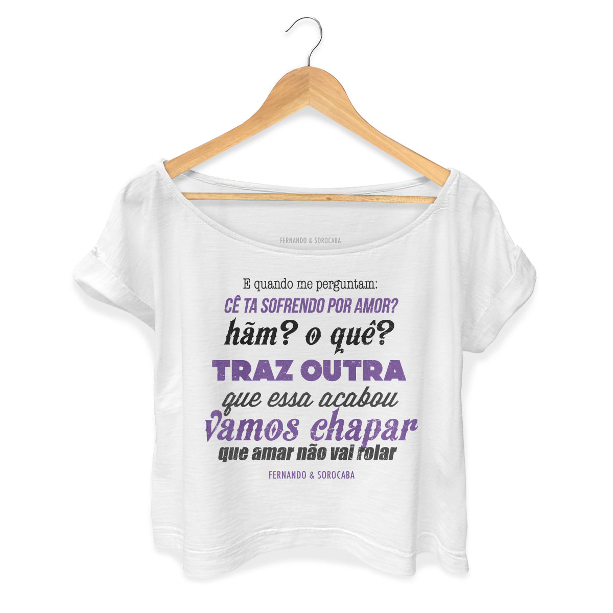 T-shirt Premium Feminina Fernando & Sorocaba Vamos Chapar