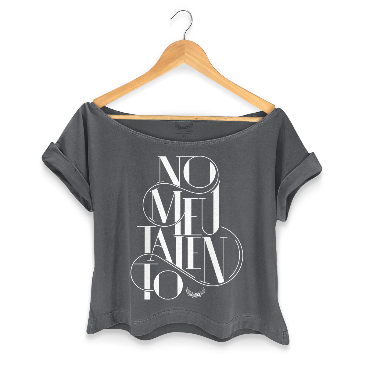 T-shirt Premium Feminina Gola Canoa Anitta Te Hipnotizar No meu Talento