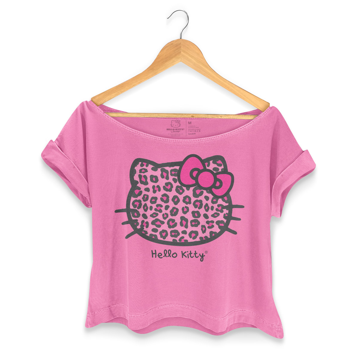 T-shirt Premium Feminina Hello Kitty Animal Print