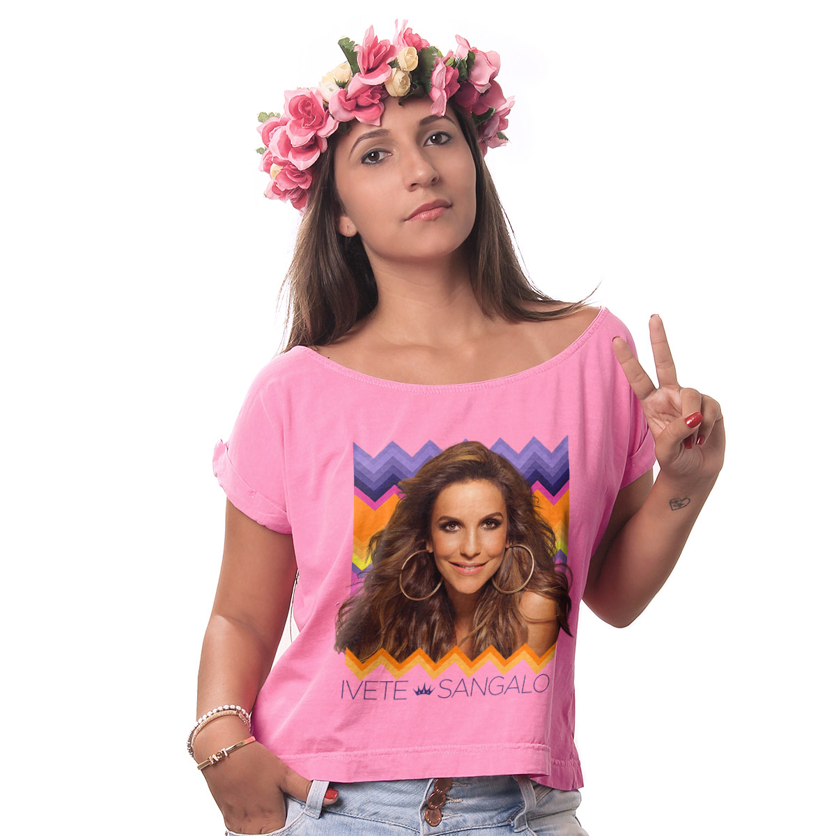 T-shirt Premium Feminina Ivete Sangalo Étnica