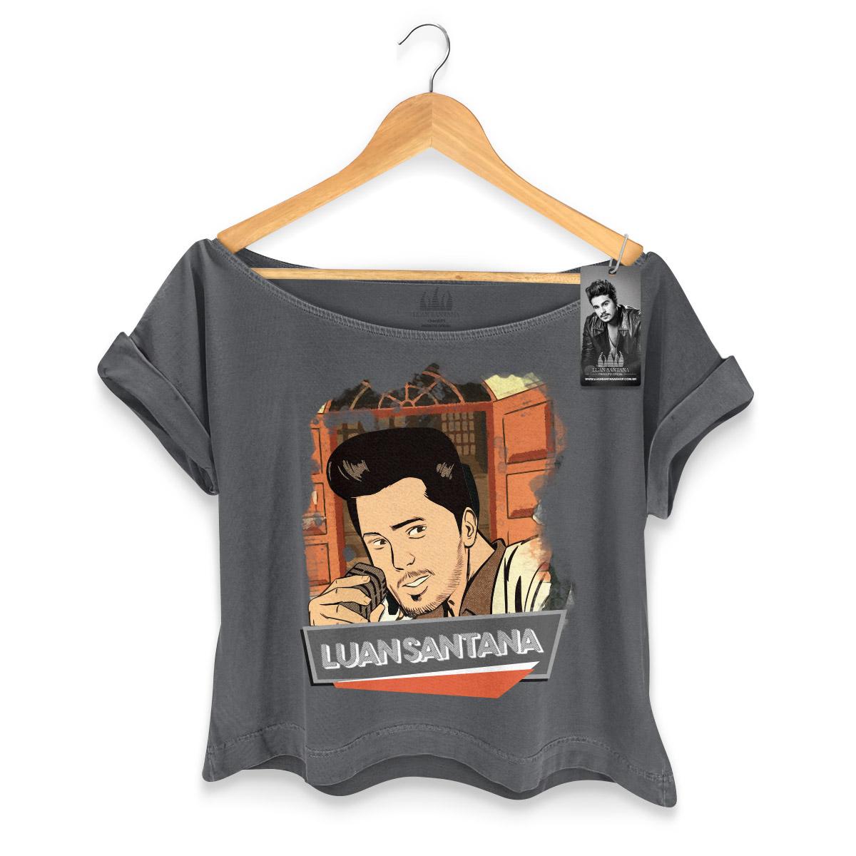 T-shirt Premium Feminina Luan Santana Eu Não Merecia Isso