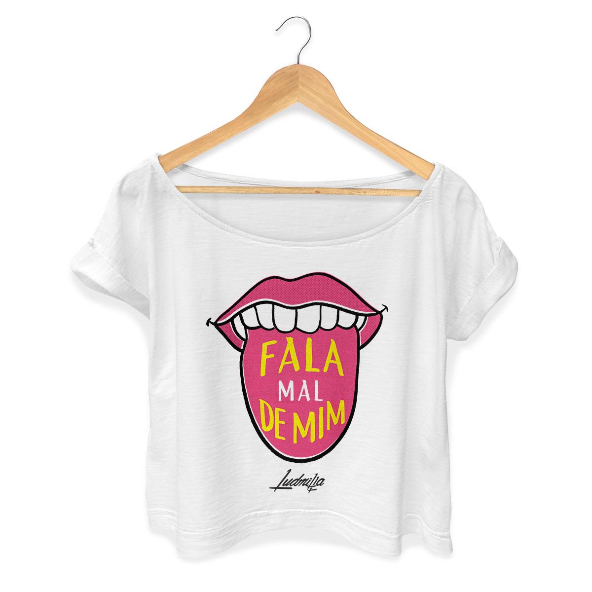T-shirt Premium Feminina Ludmilla Fala Mal de Mim