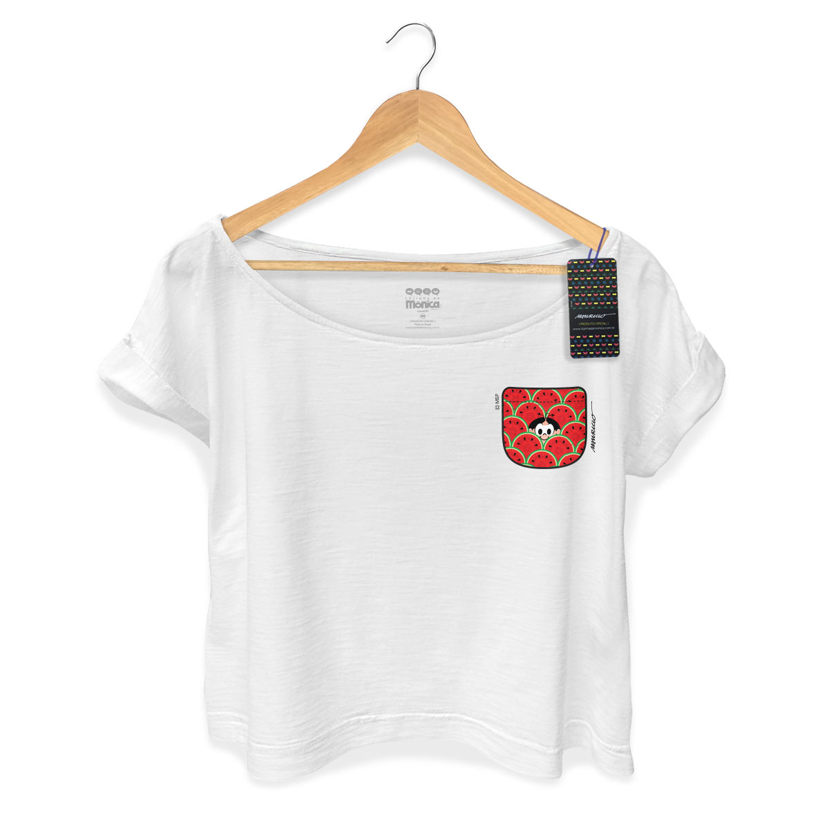 T-shirt Premium Feminina Magali 50 Anos Melancia