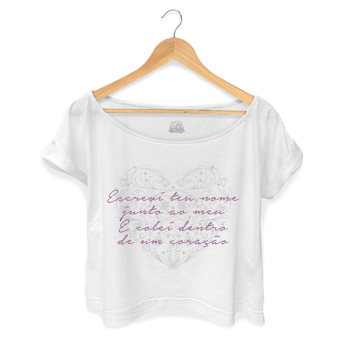 T-shirt Premium Feminina Maria Cecília & Rodolfo Escrevi Teu Nome