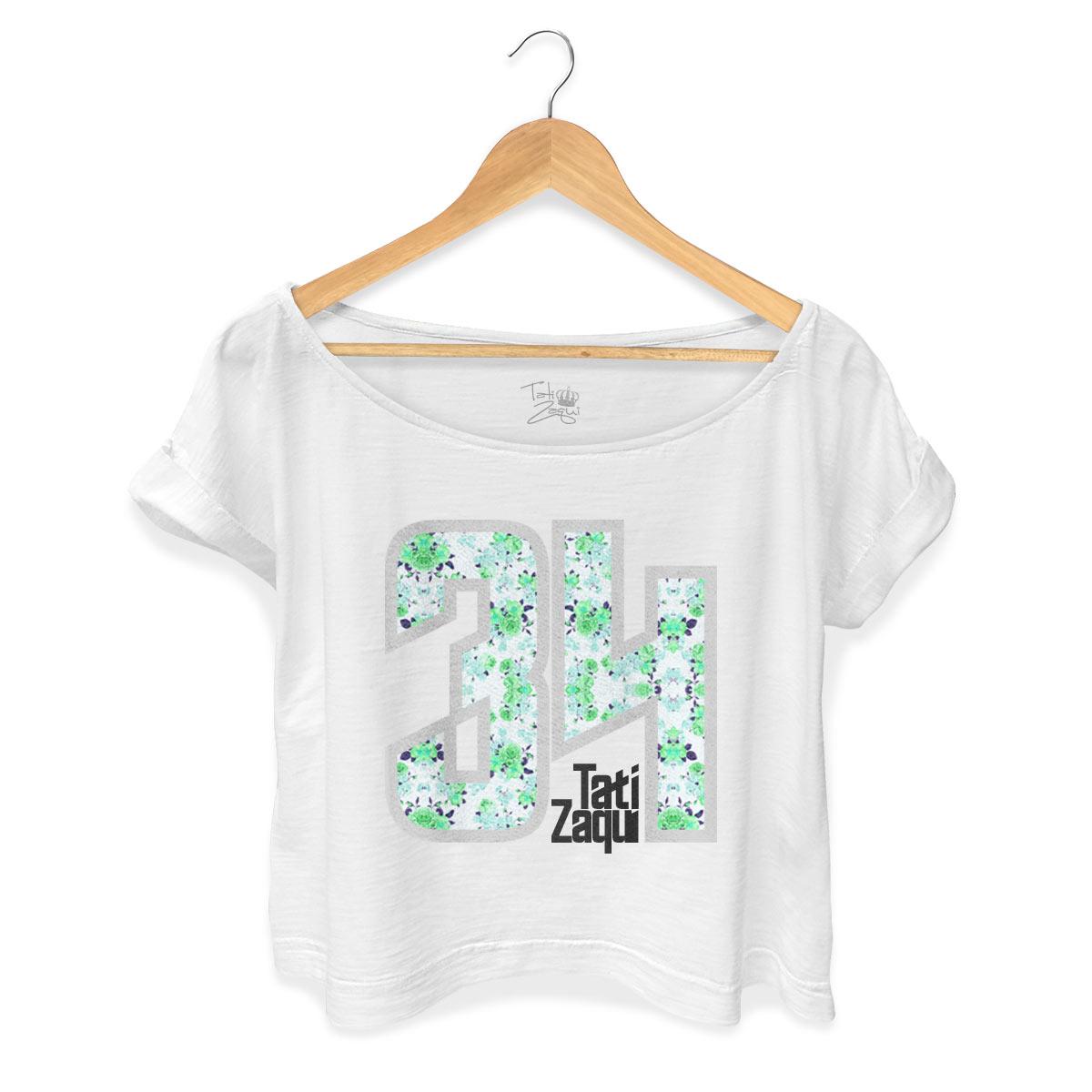 T-shirt Premium Feminina MC Tati Zaqui 34 Flowers