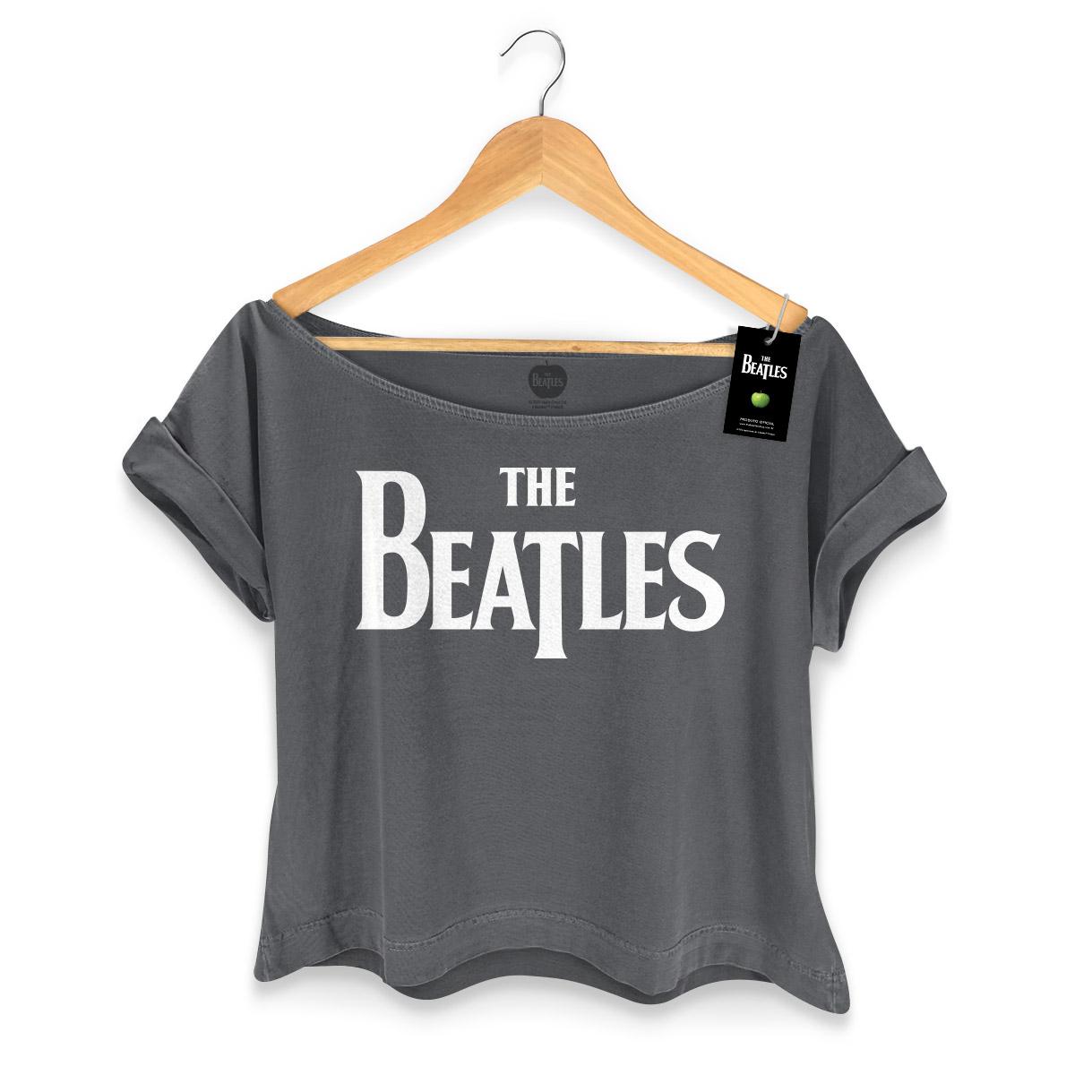 T-shirt Premium Feminina The Beatles Classic Logo