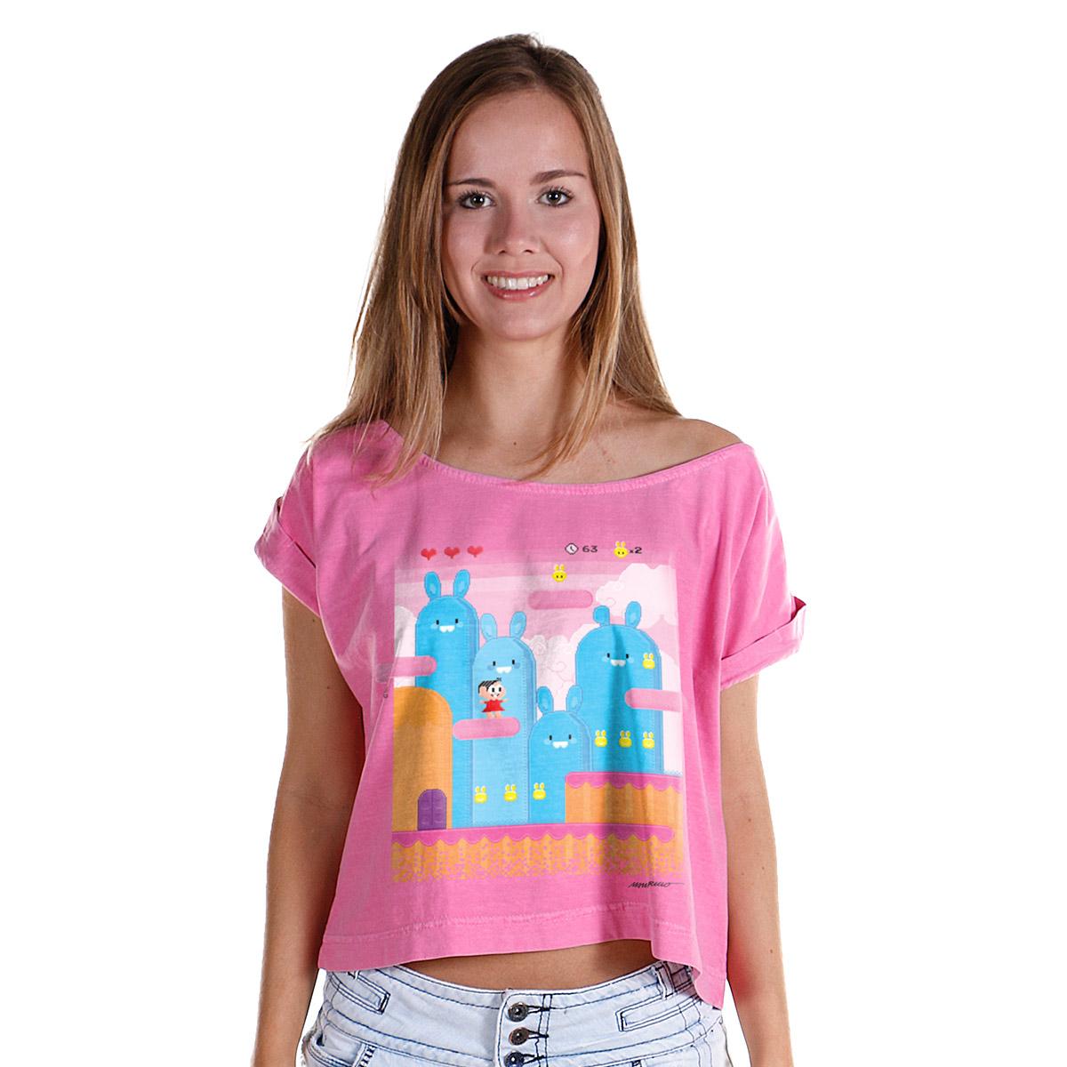 T-shirt Premium Feminina Turma da M�nica Pixel M�nica