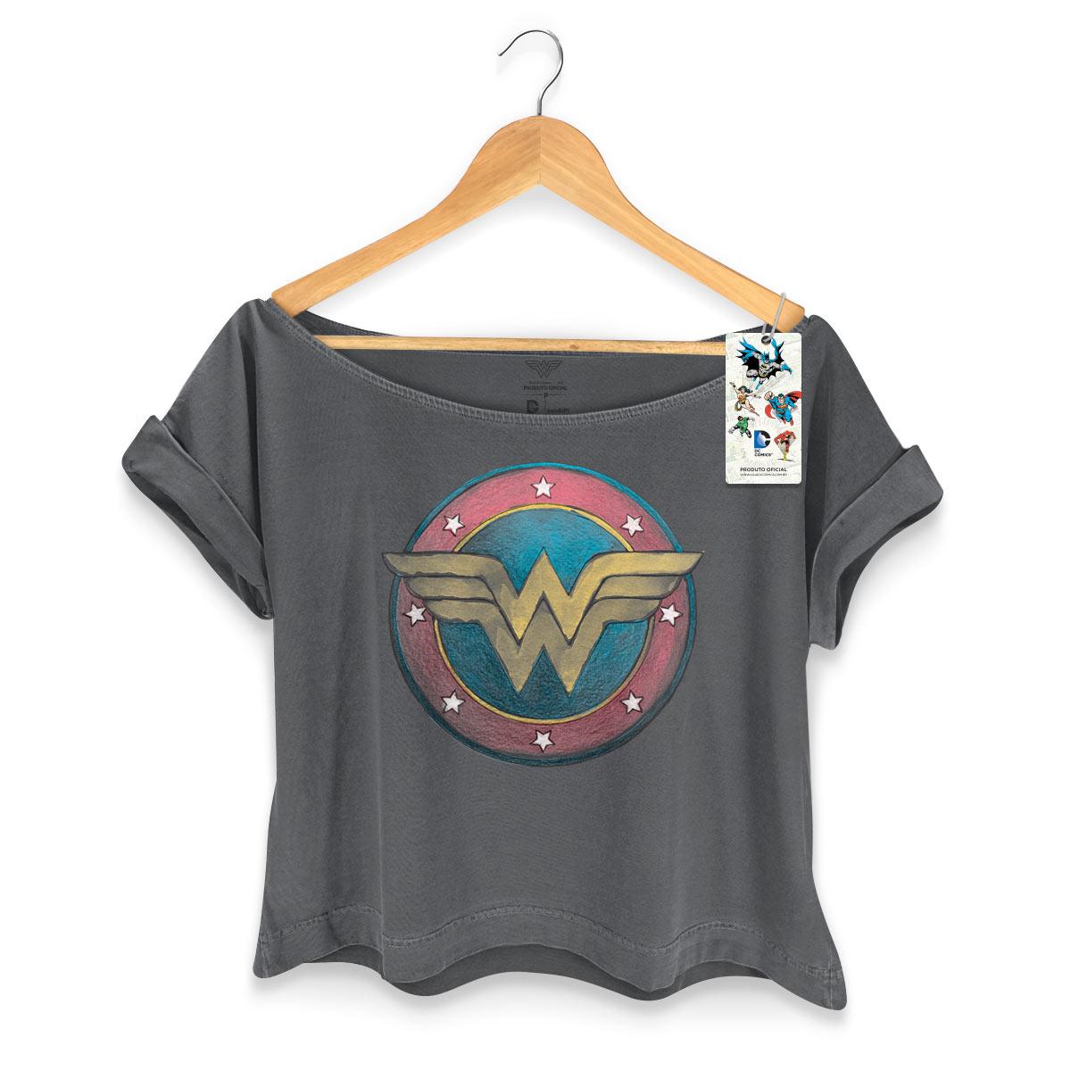 T-shirt Premium Feminina Wonder Woman Classic Logo
