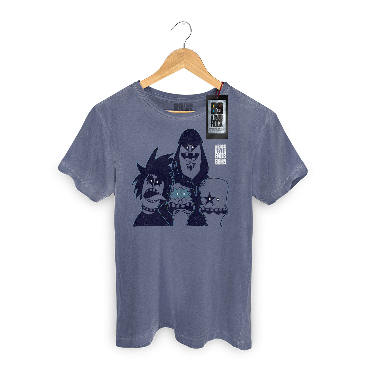 T-shirt Premium Masculina 89FM A Rádio Rock Kiss Never Ends