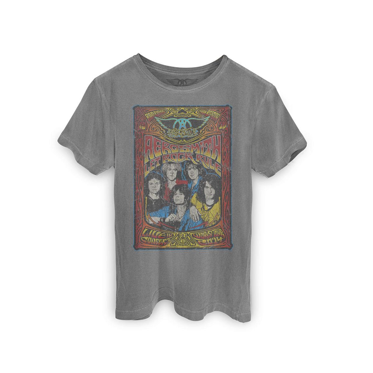 T-shirt Premium Masculina Aerosmith Let Rock Rule
