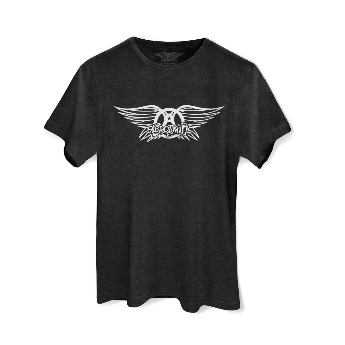 T-shirt Premium Masculina Aerosmith Logo