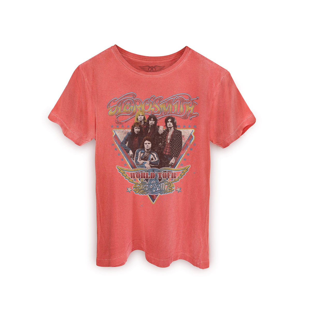T-shirt Premium Masculina Aerosmith World Tour