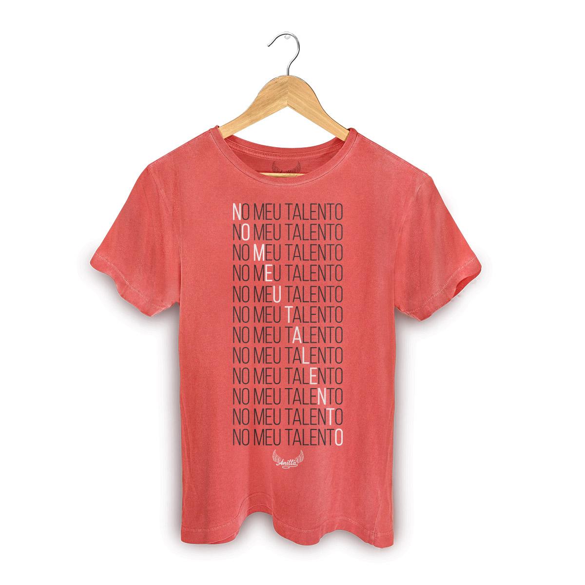 T-shirt Premium Masculina Anitta Meu Talento Type