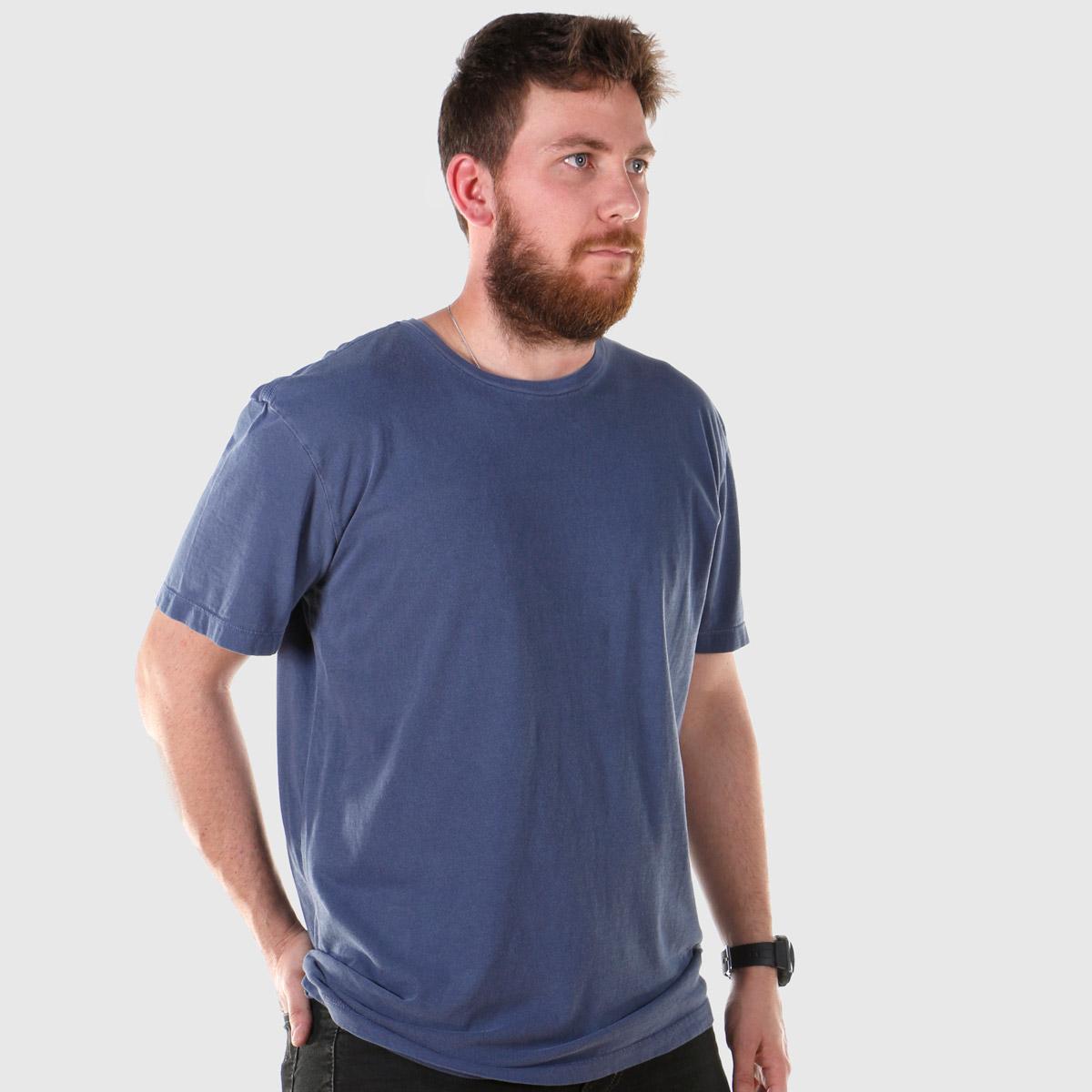 T-shirt Premium Masculina Azul Espacial
