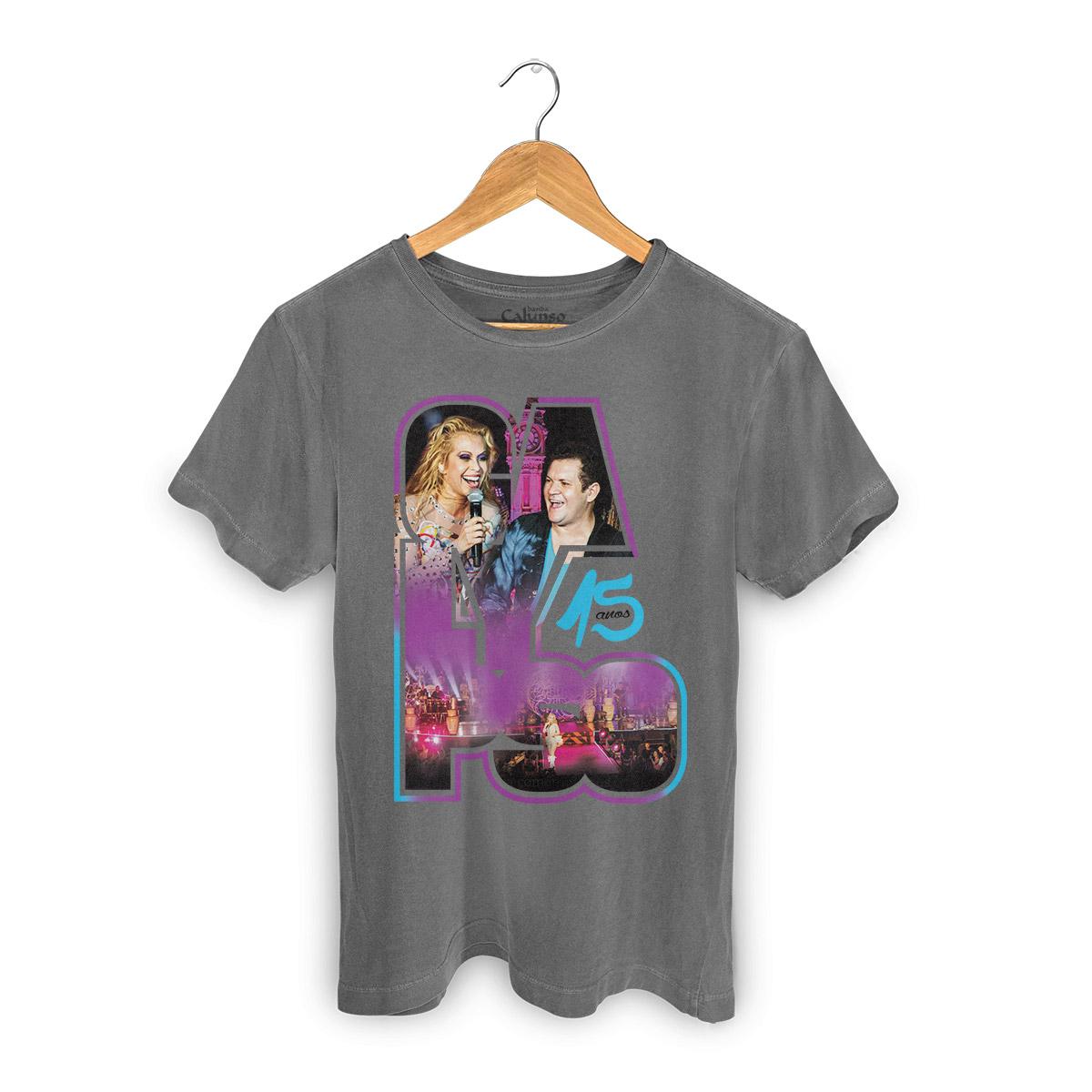 T-shirt Premium Masculina Calypso 15 Anos Foto