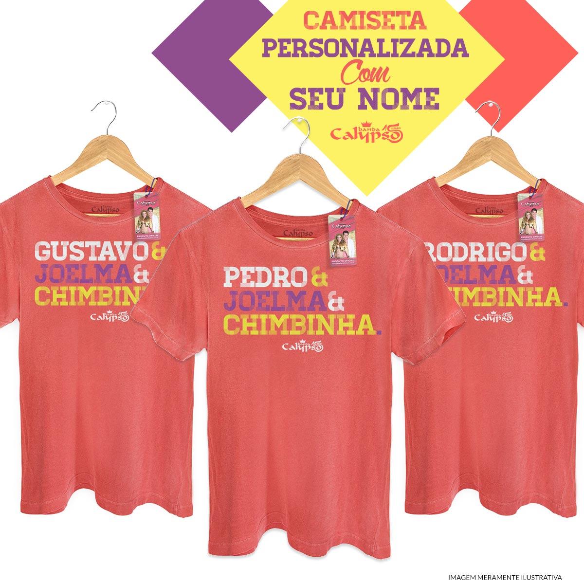 T-shirt Premium Masculina Calypso Você, Joelma e Chimbinha