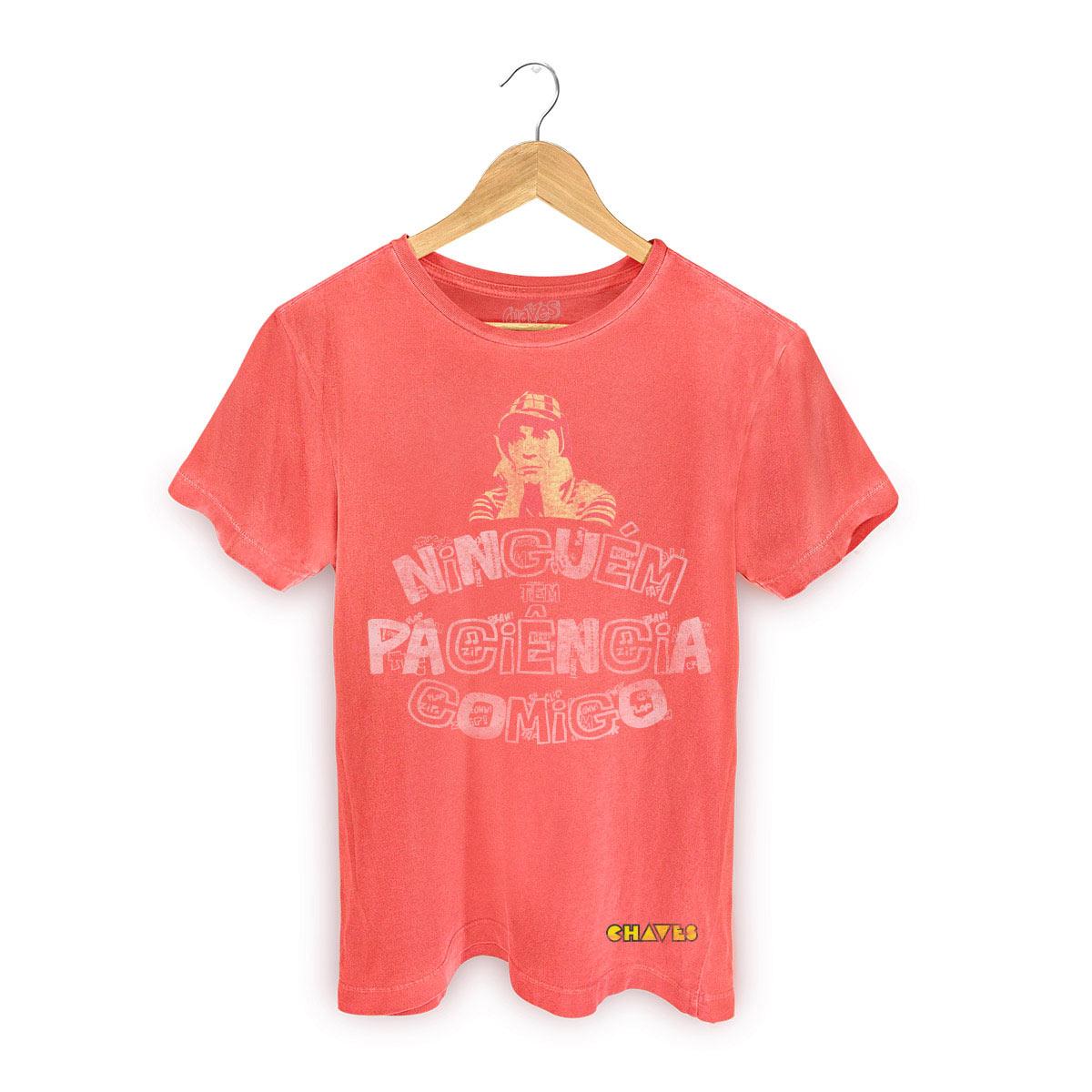 T-shirt Premium Masculina Chaves Ninguém Tem Paciência Comigo