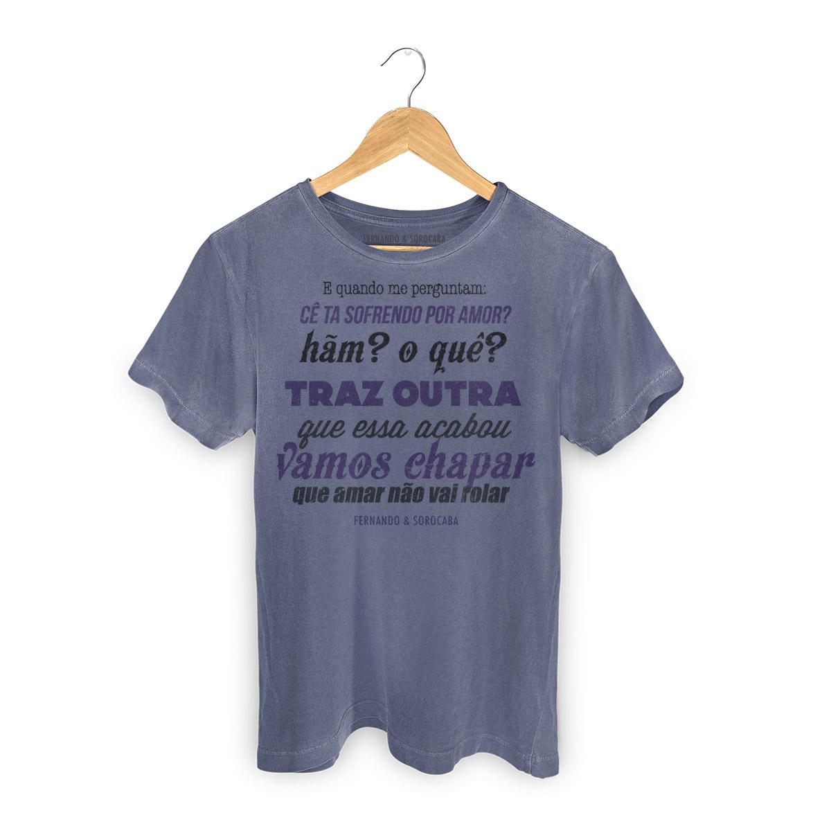 T-shirt Premium Masculina Fernando & Sorocaba Vamos Chapar