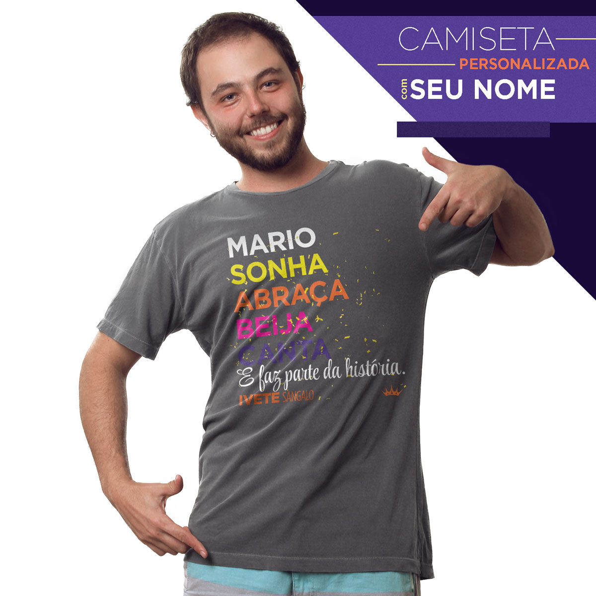 T-shirt Premium Masculina Ivete Sangalo Faz Parte da História