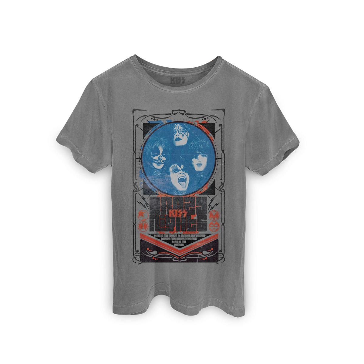 T-shirt Premium Masculina Kiss Crazy Nights