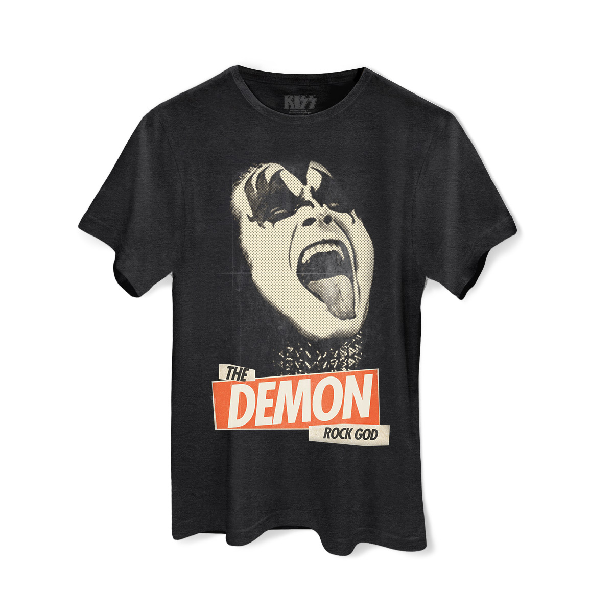 T-shirt Premium Masculina Kiss Rock God