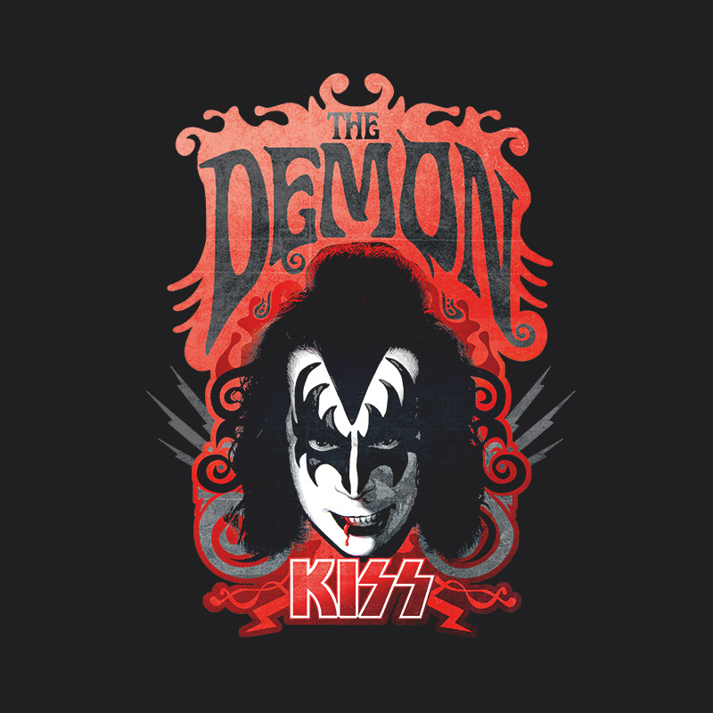 T-shirt Premium Masculina Kiss The Demon