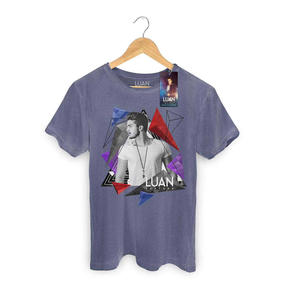 T-shirt Premium Masculina Luan Santana Triangle