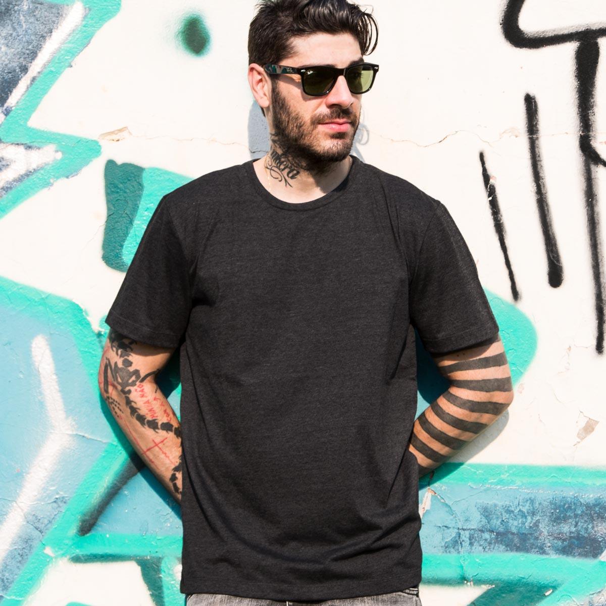T-shirt Premium Masculina Mescla Metr�pole