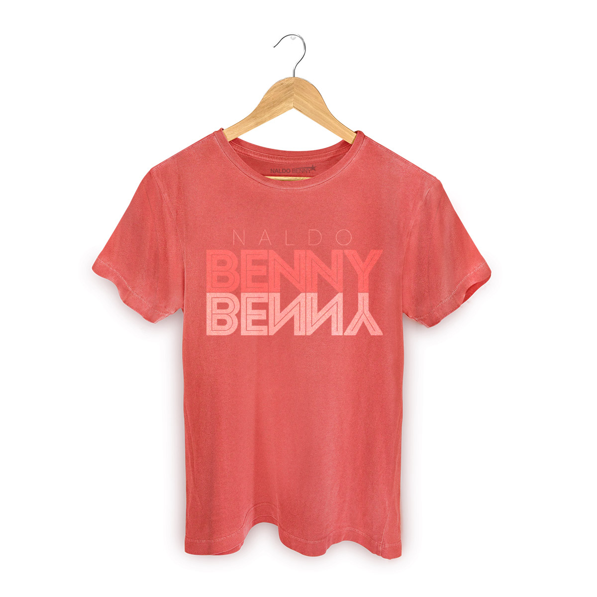 T-shirt Premium Masculina Naldo Type Red