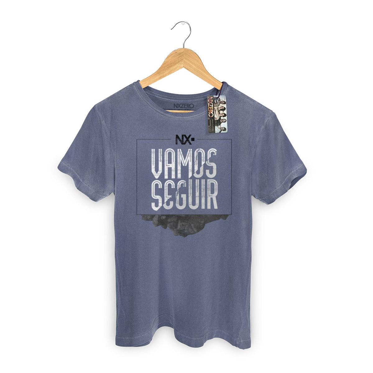 T-shirt Premium Masculina NXZero Vamos Seguir