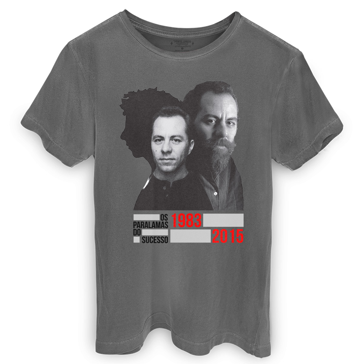 T-shirt Premium Masculina Os Paralamas do Sucesso Bi Ribeiro 1983-2015